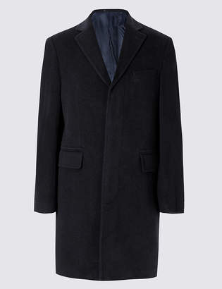 M&S Collection LuxuryMarks and Spencer Luxury Italian Wool Overcoat with Cashmere