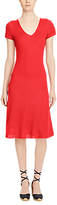Lauren Ralph Lauren Cotton-Blend Sweater Dress, Fresh Tomato