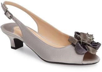J. Renee Leone Slingback Crystal Embellished Sandal
