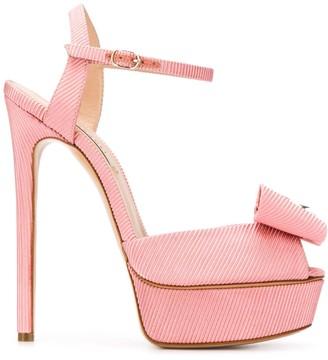 Casadei Bow Detail Platform Sandals