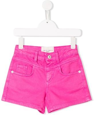 Alberta Ferretti Kids Cord Pink Shorts