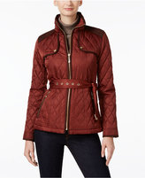 Vince Camuto Belted Quilted Coat