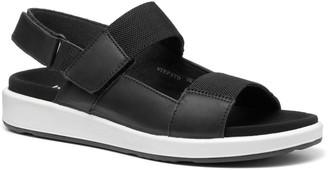 Hotter Step Flat Sandals - Black/White