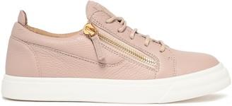 Giuseppe Zanotti Nicki Pebbled-leather Sneakers