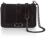 Rebecca Minkoff Chevron Quilted Small Velvet Love Crossbody Bag