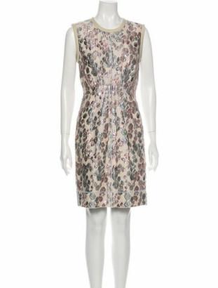 Marc Jacobs Printed Mini Dress Metallic