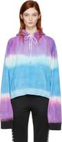 Off-White Multicolor Tie-dye woman Towel Hoodie