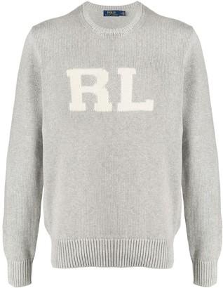 Polo Ralph Lauren Chest Logo Knitted Cotton Jumper