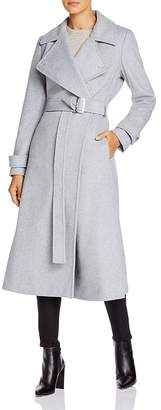 Calvin Klein Double-Breasted Wool-Blend Wrap Coat