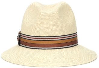 Loro Piana The Suitcase Stripe straw fedora