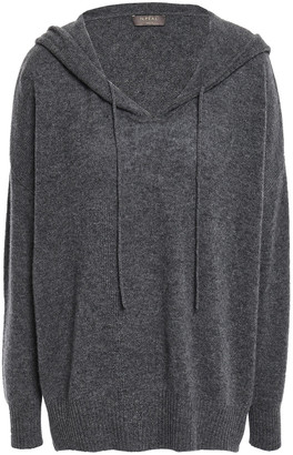 N.Peal Melange Cashmere Hooded Sweater