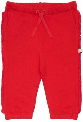 Stella Mccartney Kids Cotton Sweatpants W/ Fringes