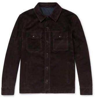 Peter Millar Journeyman Suede Shirt Jacket