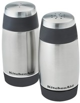 KitchenAid Salt and Pepper Stainless Steel Shakers Black Rim