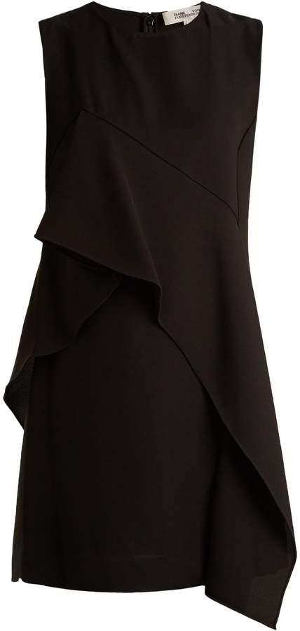 Diane von Furstenberg Asymmetric-ruffle sleeveless dress