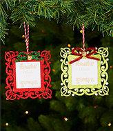 Trimsetter ELF Collection Scroll Frame 2-Piece Ornament Set