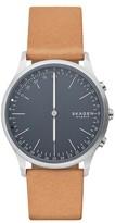 Skagen Men's Jorn Hybrid Leather Strap Smart Watch, 41Mm