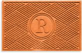 "Bed Bath & Beyond Weather GuardTM Diamonds Monogrammed ""R"" 23-Inch x 35-Inch Door Mat"