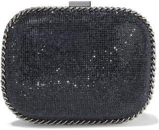 Stella McCartney Falabella Crystal-embellished Faux Suede Clutch
