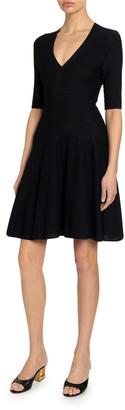Givenchy Flared 1/2-Sleeve Dress