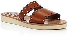 Tabitha Simmons Women's Akela Double-Strap Slide Sandals