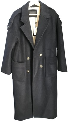 Eleven Paris Blue Wool Coat for Women