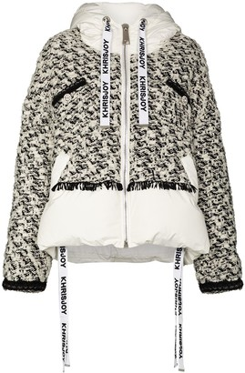 KHRISJOY Khris tweed panelled short coat