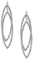 Cezanne Drop Leaves Rhinestone Statement Earrings