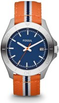 Fossil Men's Retro Traveler AM4478 Two-Tone Nylon Quartz Watch with Dial