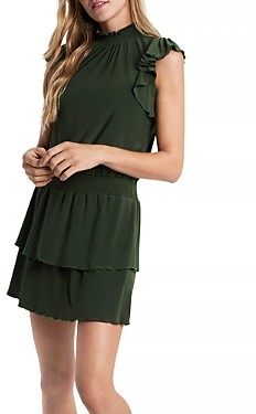 1 STATE Mock Neck Flutter Sleeve Dress