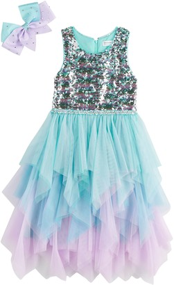 Knitworks Girls 4-6x Knit Works Sequin Bodice Fairy Dress with Bow