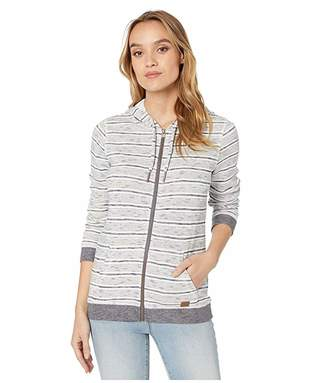 Roxy Trippin Stripes Zip-Up Hoodie (Mood Indigo Sunday Stripe) Women's Clothing