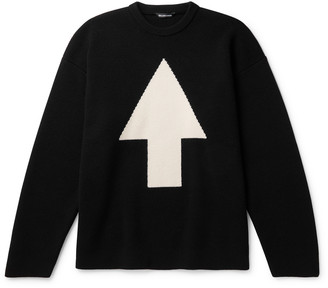 Balenciaga Oversized Intarsia Wool-Blend Sweater