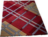 House of Fraser Origin Rugs Iona Wool Rug Red 80x150