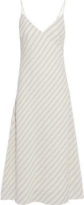 Frame Striped Gauze Midi Slip Dress