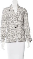 Proenza Schouler Tweed Notch-Lapel Blazer