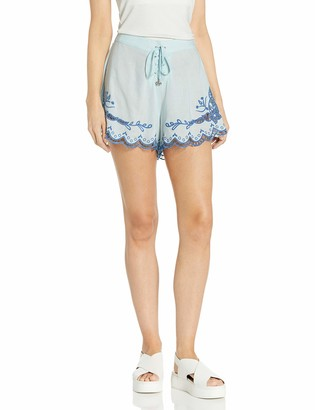 Somedays Lovin Women's Azul Cutwork Print Tie Short