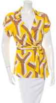 Diane von Furstenberg Jilda Silk Short Sleeve Top