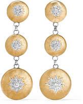 Buccellati Macri 18-karat Yellow And White Gold Diamond Earrings - one size