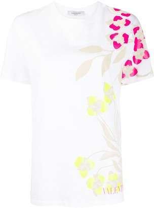 Valentino floral print short-sleeve T-shirt