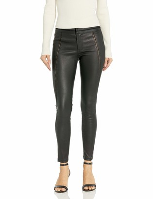 David Lerner Women's Stitched Leather Legging