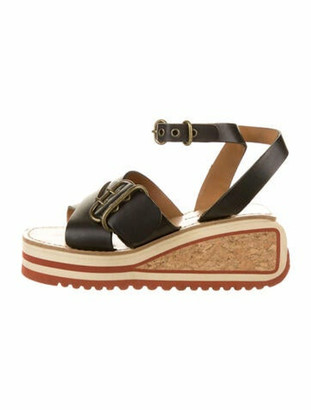 Isabel Marant Leather Sandals Black