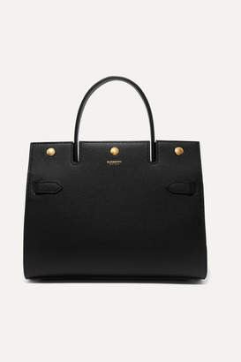 Burberry Small Textured-leather Tote - Black