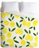 Deny Designs Hello Sayang Lemon Drops Duvet Cover, King