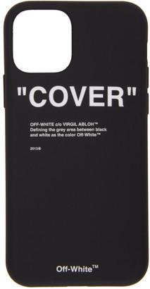 Off-White Black Quote iPhone 11 Pro Case