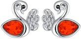St.Ushine Sterling Silver Plated Fashion Swan Women Cubic Zirconia Bangle Bracelet Girlfriend Birthday Gift