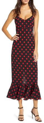 Endless Rose Polka Dot Camisole Maxi Dress