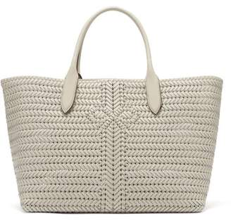 Anya Hindmarch The Neeson Large Woven Leather Tote Bag - Womens - White