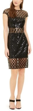 SHO Sequined Illusion Dress