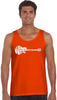 LOS ANGELES POP ART Los Angeles Pop Art Welcome To The Jungle Word ArtTank Top - Men's Big and Tall